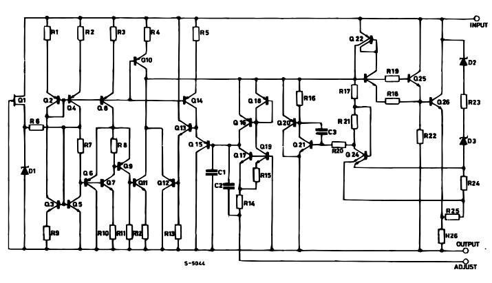 Внутренняя схема LM317