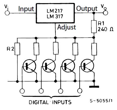 Стабилизатор с цифровой регулировкой напряжения