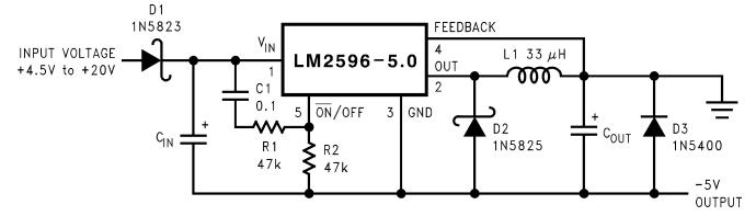 Рис. 3 Схема инвертора на -5 В с задержкой включения