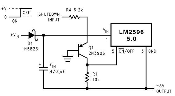 Схема инвертора с подачей отключающего напряжения относительно земли