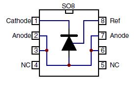 Расположение выводов для корпуса SO8