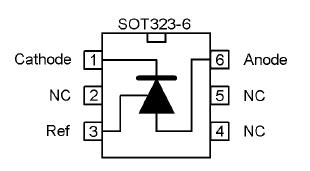 Расположение выводов для корпуса SOT323-6