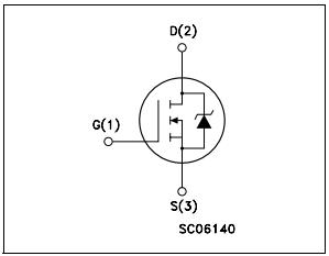 Внутренняя схема STP60NF06