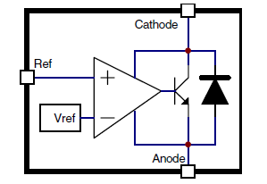 Блок-схема TL431 и TL432