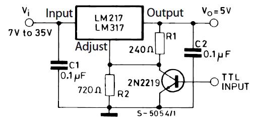 Стабилизатор на 5 В с электронным выключением