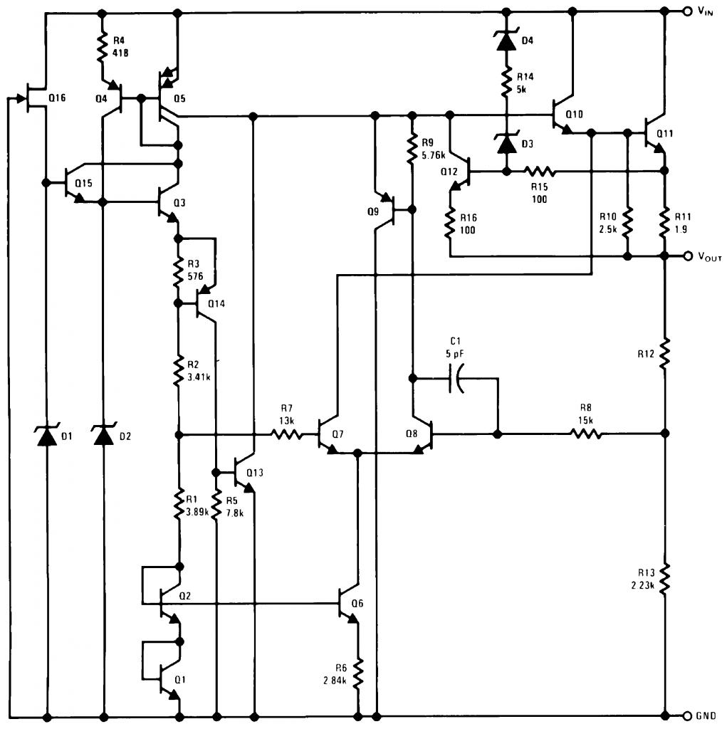 Эквивалентная схема LM78LXX