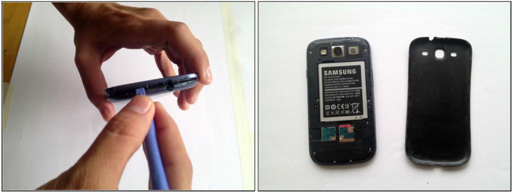Шаг 2. Замена стекла Samsung Galaxy s3