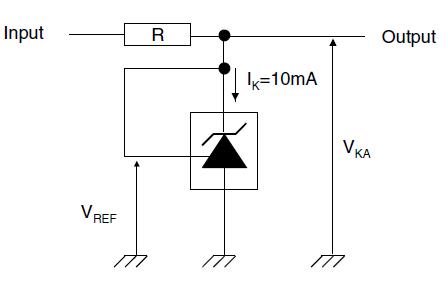 Тестовая цепь для VKA = Vref