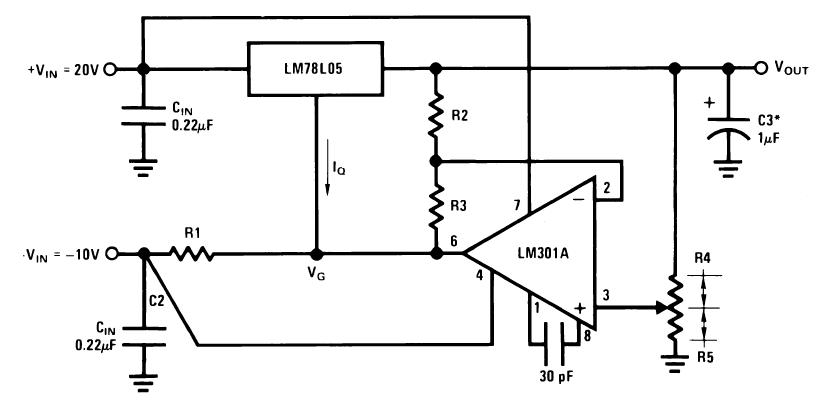 Стабилизатор с регулируемым выходным напряжением 0.5 В-18 В