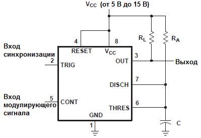 Схема ШИМ-регулятора на 555