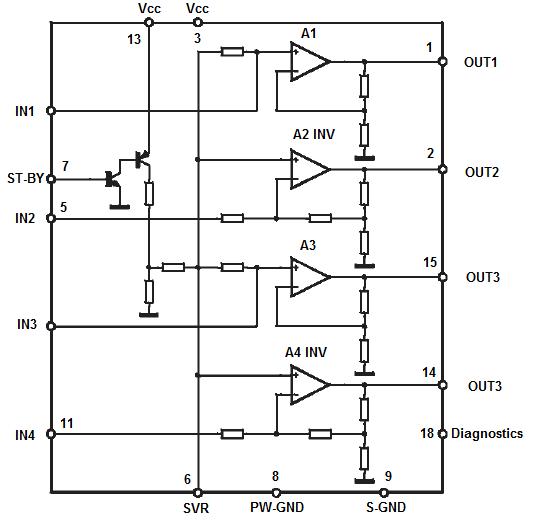 Схема усилителя tda7377