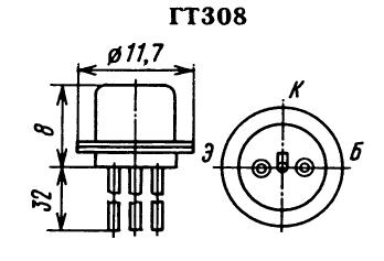 Цоколевка транзистора ГТ308
