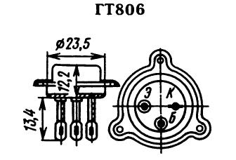 Цоколевка транзистора ГТ806