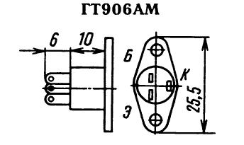 Цоколевка транзистора ГТ906АМ