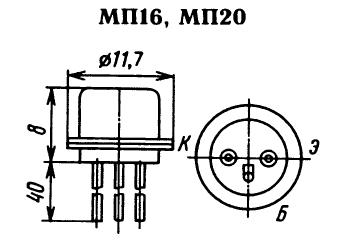 Цоколевка транзистора МП16