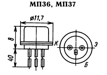 Цоколевка транзистора МП37