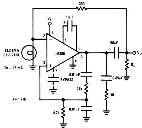 Схема генератора с низким коэффициентом искажений на мосте Вина