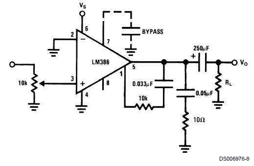 Схема с дополнительным усилением низких частот