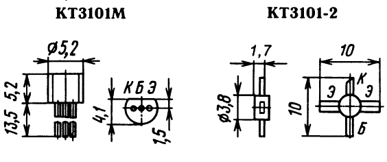 Цоколевка транзистора КТ3101