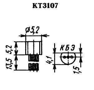 Цоколевка транзистора КТ3107