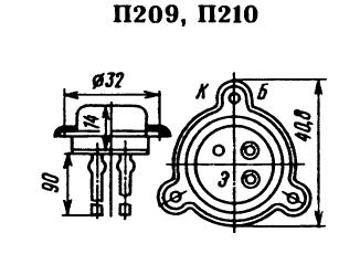 Цоколевка транзистора П210