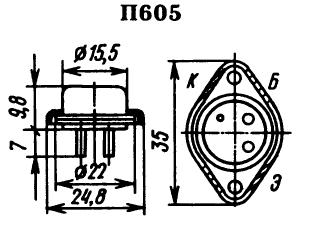 Цоколевка транзистора П605