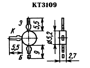 Цоколевка транзистора КТ3109