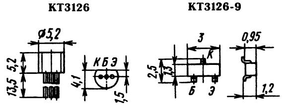 Цоколевка транзистора КТ3126
