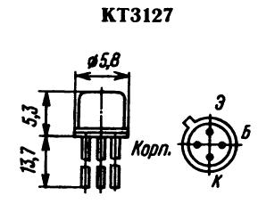 Цоколевка транзистора КТ3127