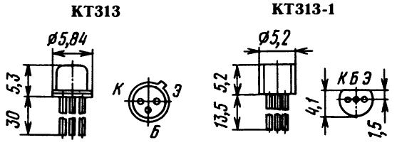 Цоколевка транзистора КТ313