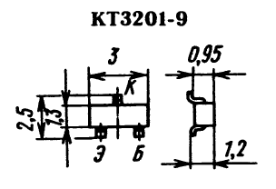 Цоколевка транзистора КТ3201