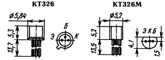 Цоколевка транзистора КТ326