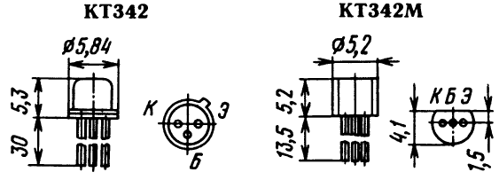 Цоколевка транзистора КТ342