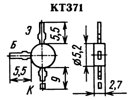 Цоколевка транзистора КТ371