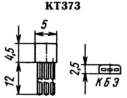 Цоколевка транзистора КТ373
