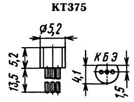Цоколевка транзистора КТ375