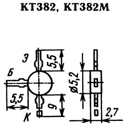 Цоколевка транзистора КТ382