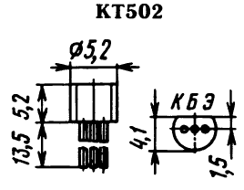 Цоколевка транзистора КТ502