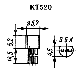 Цоколевка транзистора КТ520