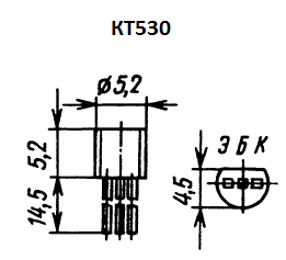 Цоколевка транзистора КТ530