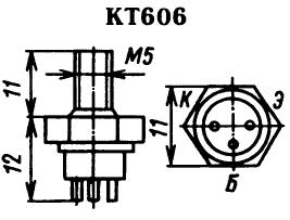 Цоколевка транзистора КТ606