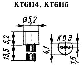 Цоколевка транзисторов КТ6114, КТ6115