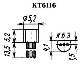 Цоколевка транзистора КТ6116