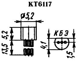Цоколевка транзистора КТ6117