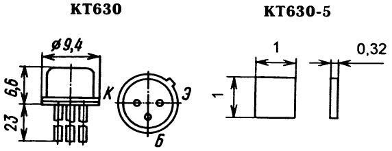 Цоколевка транзистора КТ630