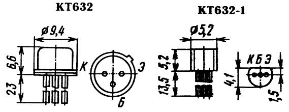 Цоколевка транзистора КТ632