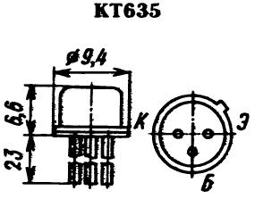 Цоколевка транзистора КТ635