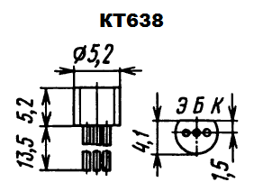 Цоколевка транзистора КТ638