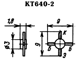 Цоколевка транзистора КТ640