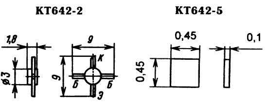 Цоколевка транзистора КТ642